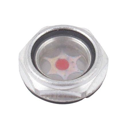 - Screw Type 23.5mm Thread Air Compressor Oil Liquid Level Sight Glass Indicator