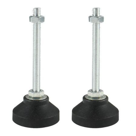 M8 x 70 x 50mm Leveling Foot Adjustable Leveler Leg Anti-slip Floor Protector Furniture Feet Support for Factory 2pcs ()