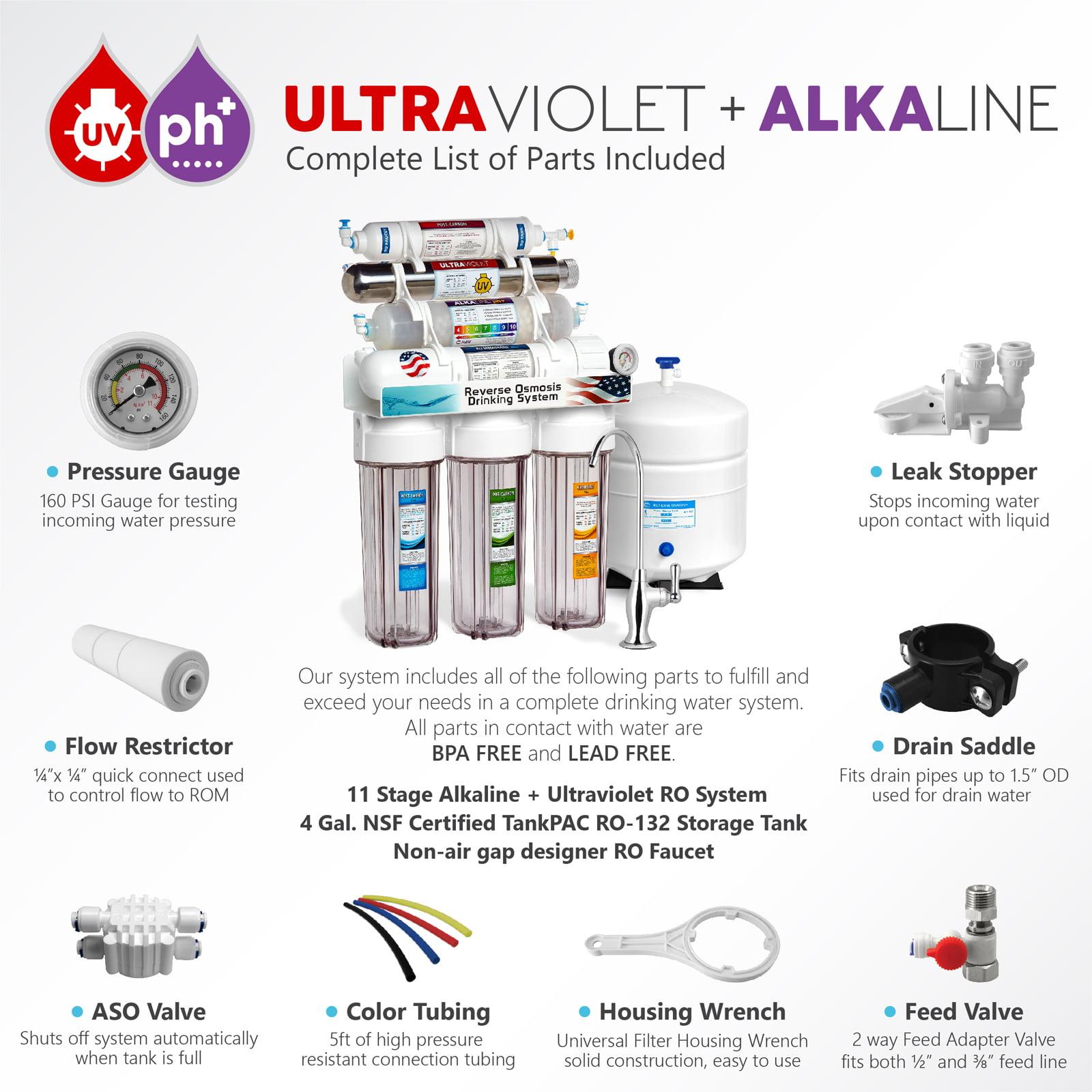 Express Water 11 Stage UV Ultraviolet Alkaline Reverse Osmosis