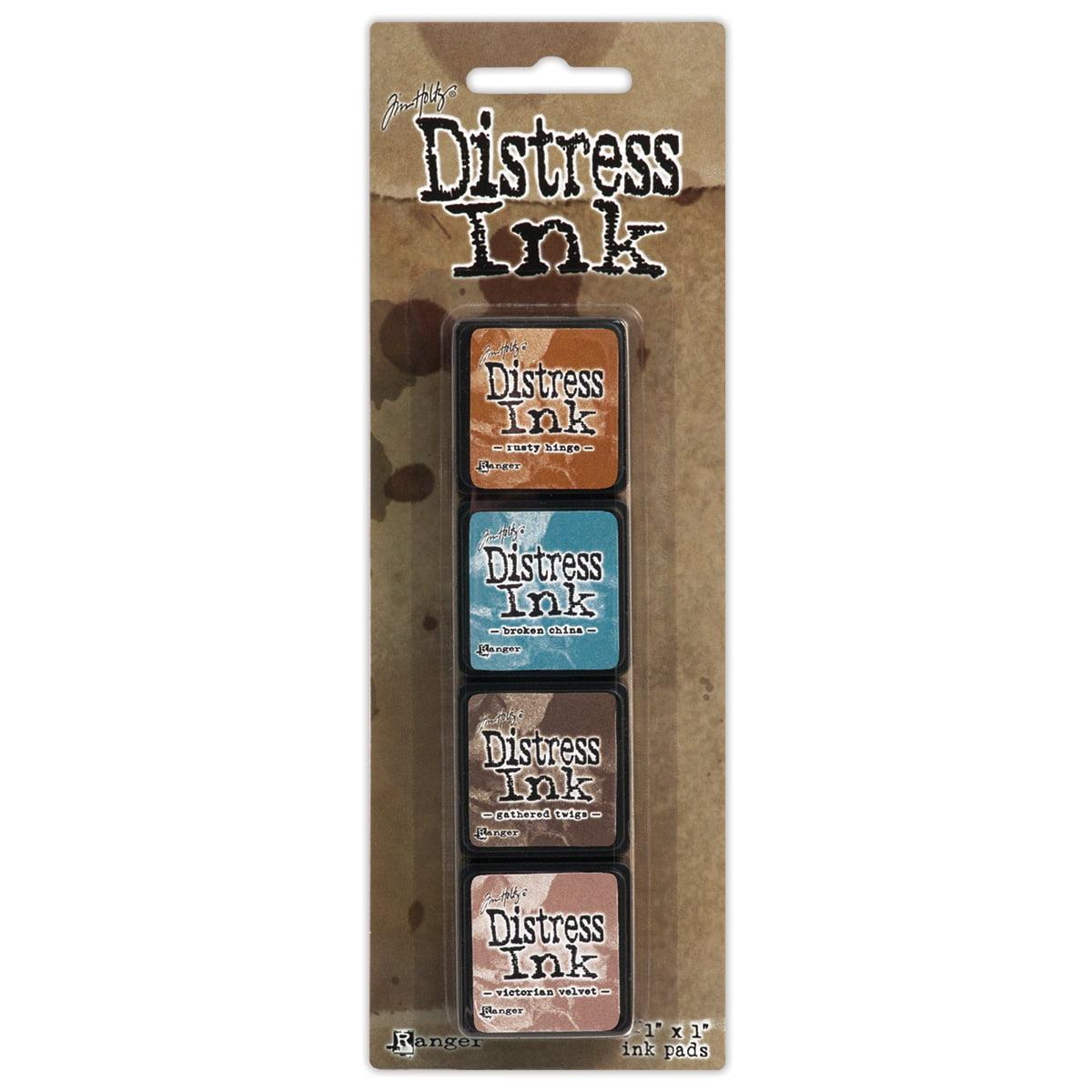 Tim Holtz Distress Mini Ink Pads 4/Pkg-Kit 6