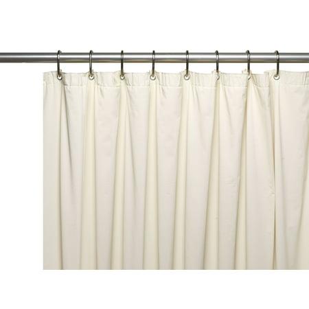 Special Sized 36 Wide 10 Gauge Vinyl Shower Curtain Liner In Bone
