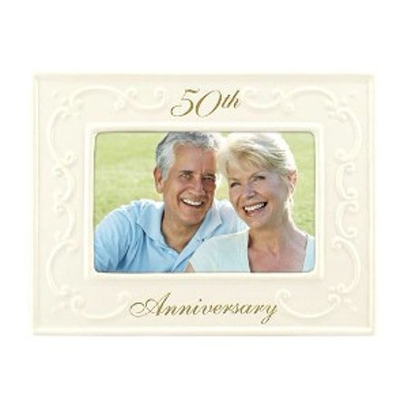 4x6 50th Anniversary Ceramic PICTURE FRAME