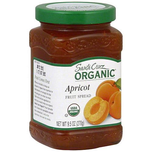 ***Discontinued by KEHE***Santa Cruz Organic Apricot Fruit Spread, 9.5 oz (Pack of 6)