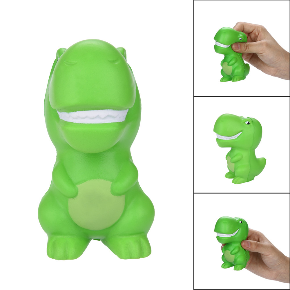 Iuhan Squishies Green Dinosaur Scented Slow Rising Squeeze Toys Stress Reliever Toys