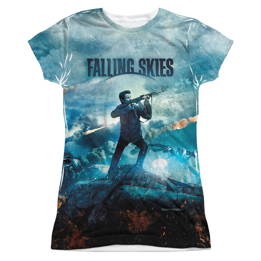 Falling Skies  Battle Girls Jr Sublimation White
