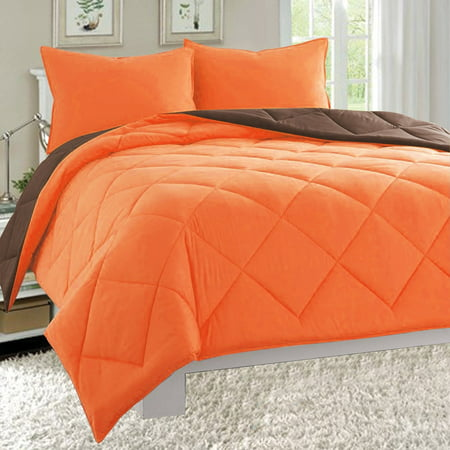 Goose Down Close Out Deal , 3pc Comforter Set-Full/Queen, Orange/Brown