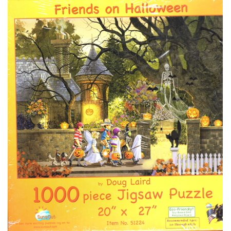 1000 Piece Friends On Halloween By Doug Laird Puzzle