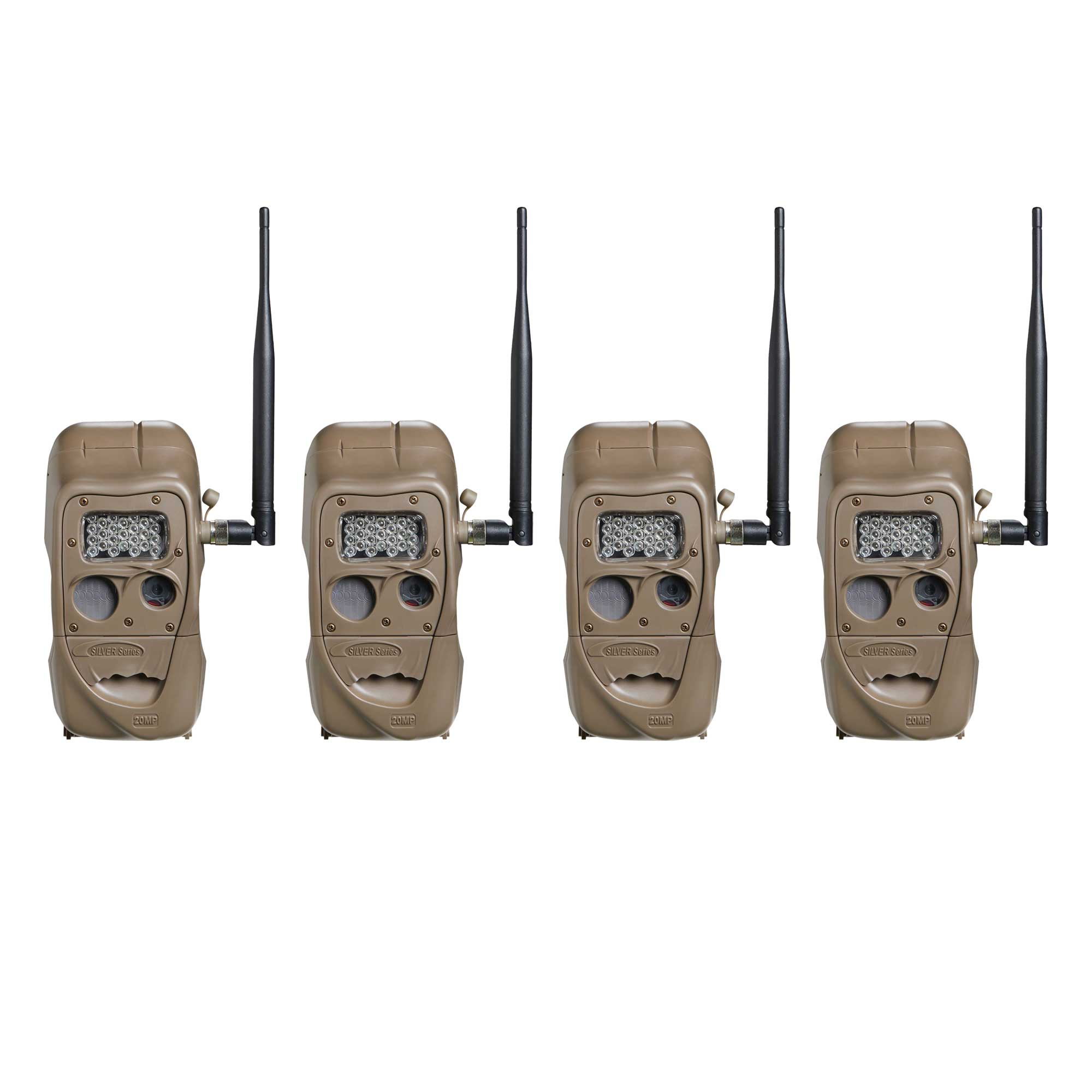 Cuddeback CuddeLink 20MP Long Range Wireless Hunting Game Trail Camera (4 Pack)