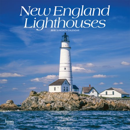 New England Lighthouses 2019 12 x 12 Inch Monthly Square Wall Calendar, USA United States of America East Coast Scenic Nature (Inca Calendar)