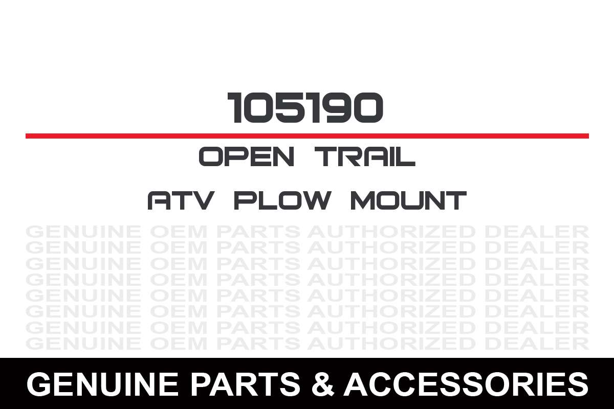 Open Trail 105190 Atv Plow Mount Kit