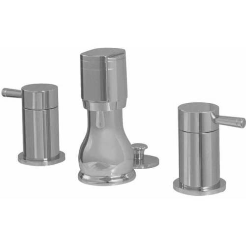 American Standard 2064.401.002 Serin Fixture-Mounted Bidet Fitting with Metal Handles and Pop-Up Drain, Available in Various Colors