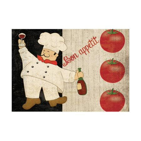 Bon Appetit Sunflower (Bon Appetit Chef Laminated Print Wall Art By Piper)
