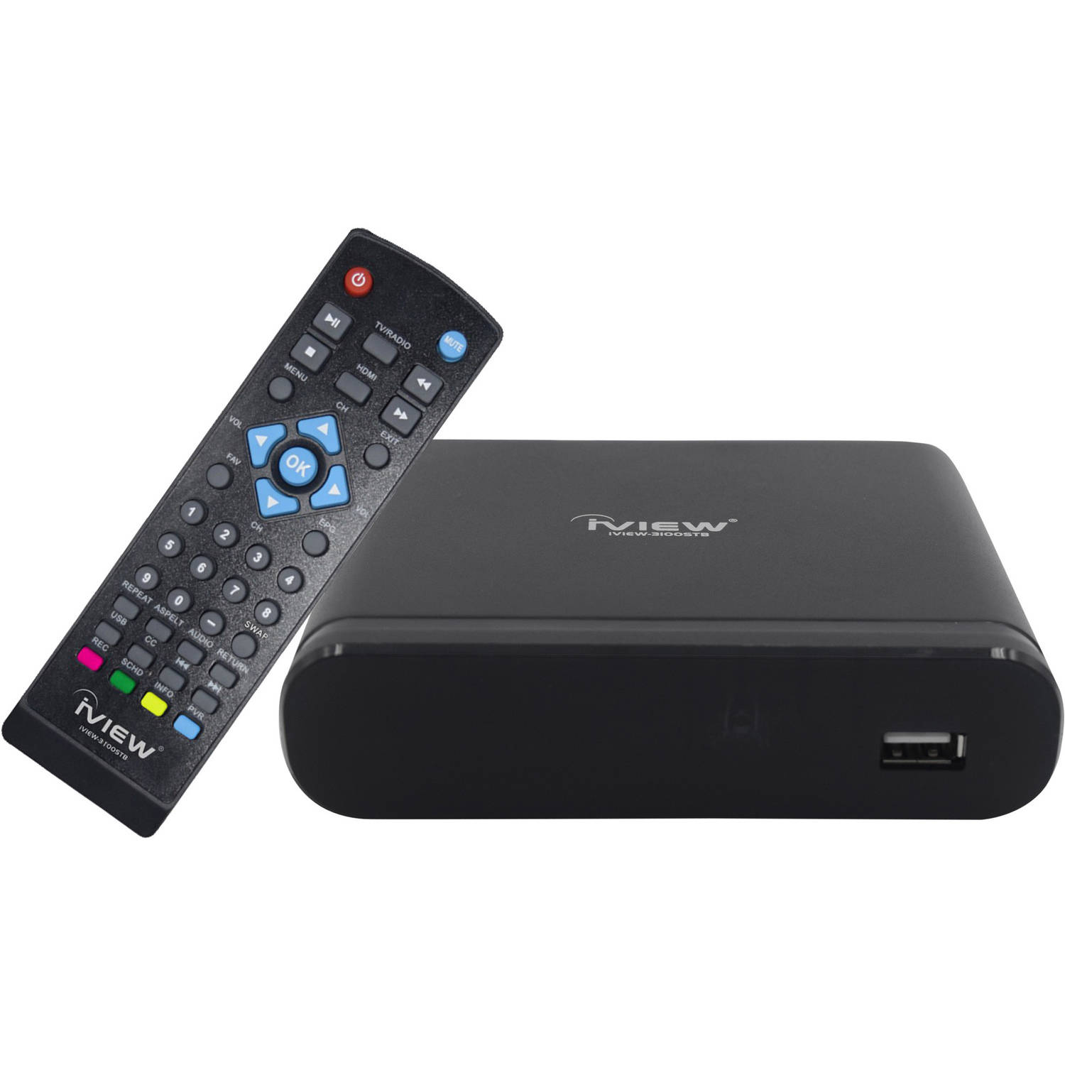 iVIEW 3100STB Digital Converter Box with Recording, Media Playback and Universal Remote