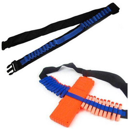 Yosoo Bullets Belt+12 Dart EVA Bullet Quick Reload Clip+20PCS Bullets Kit,Bandolier Toy Gun Soft Bullets Belt Shoulder Strap Clip Charger Darts Ammo Storage For Blasters