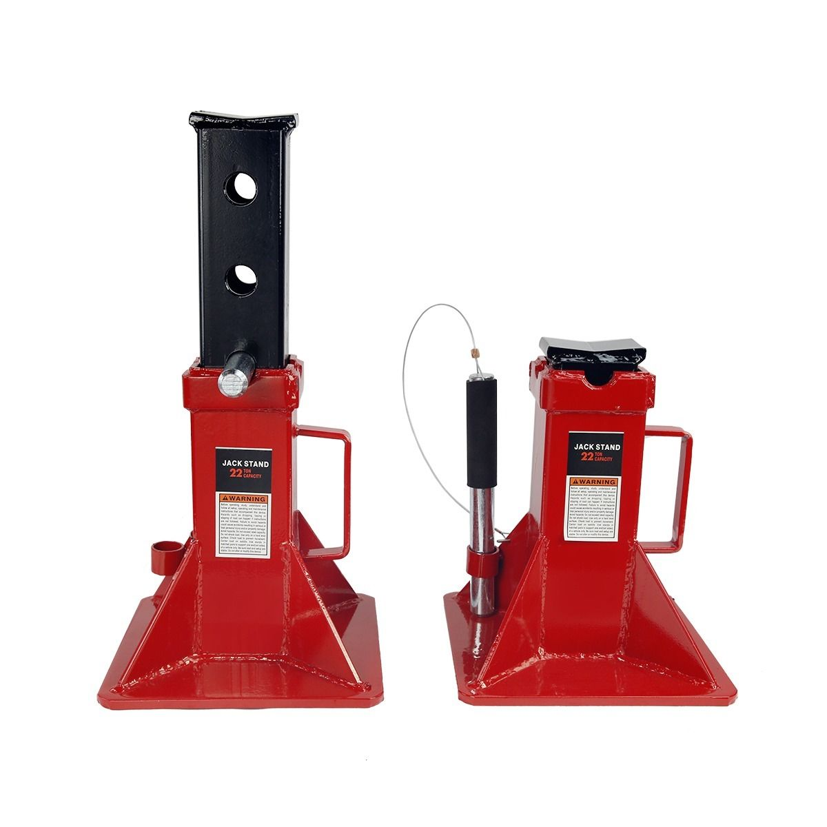 """GHP Pair of 10""""x10"""" Base 3 Height Intervals 22-Ton Load Capacity Jack Stands"""