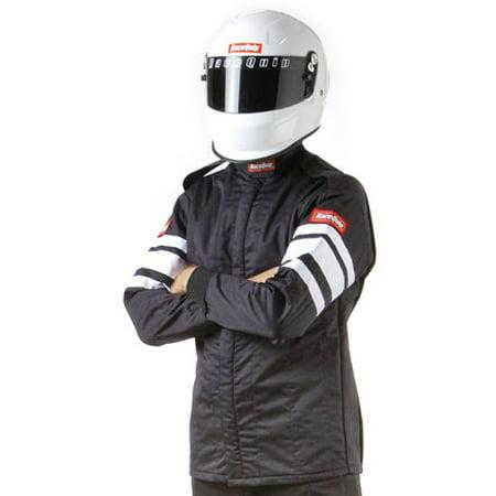 RACEQUIP/SAFEQUIP Black/White Stripe 3XL 121 Series Driving Jacket P/N 121008