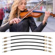 LYUMO 5PCS/ Pack Nylon Violin Tail Gut Cord String for 3/4 4/4 Violins Musical Instrument Accessory, Violin Tail Cord,Violin Tail Gut