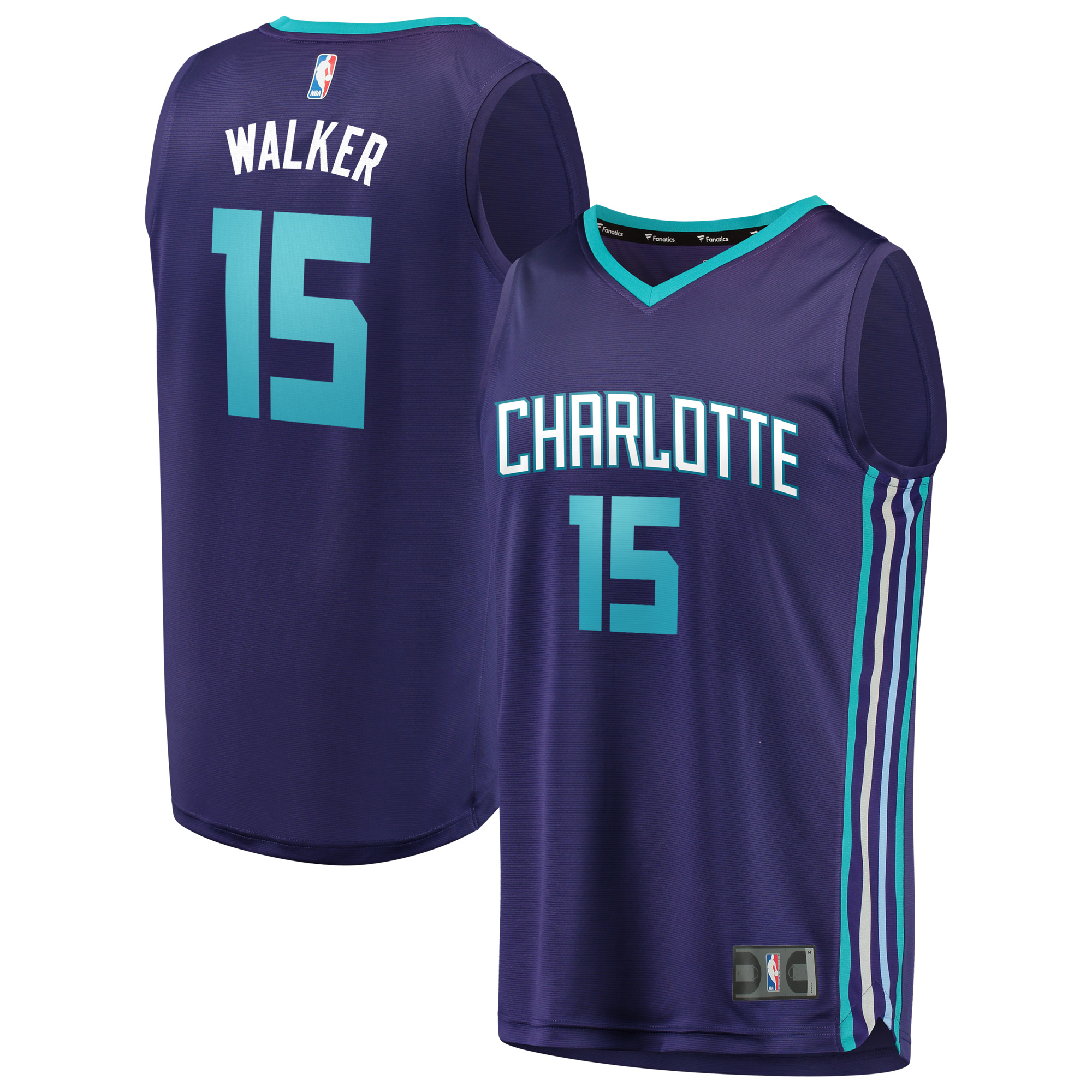 Kemba Walker Charlotte Hornets Fanatics Branded Fast Break Replica Jersey Purple - Statement Edition