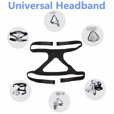 Universal Headgear Headband CPAP Ventilator Mask Fix Band Black For Respironics Resmed