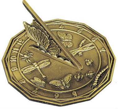 Rome Rome Butterfly Sundial Solid Brass withAntique by