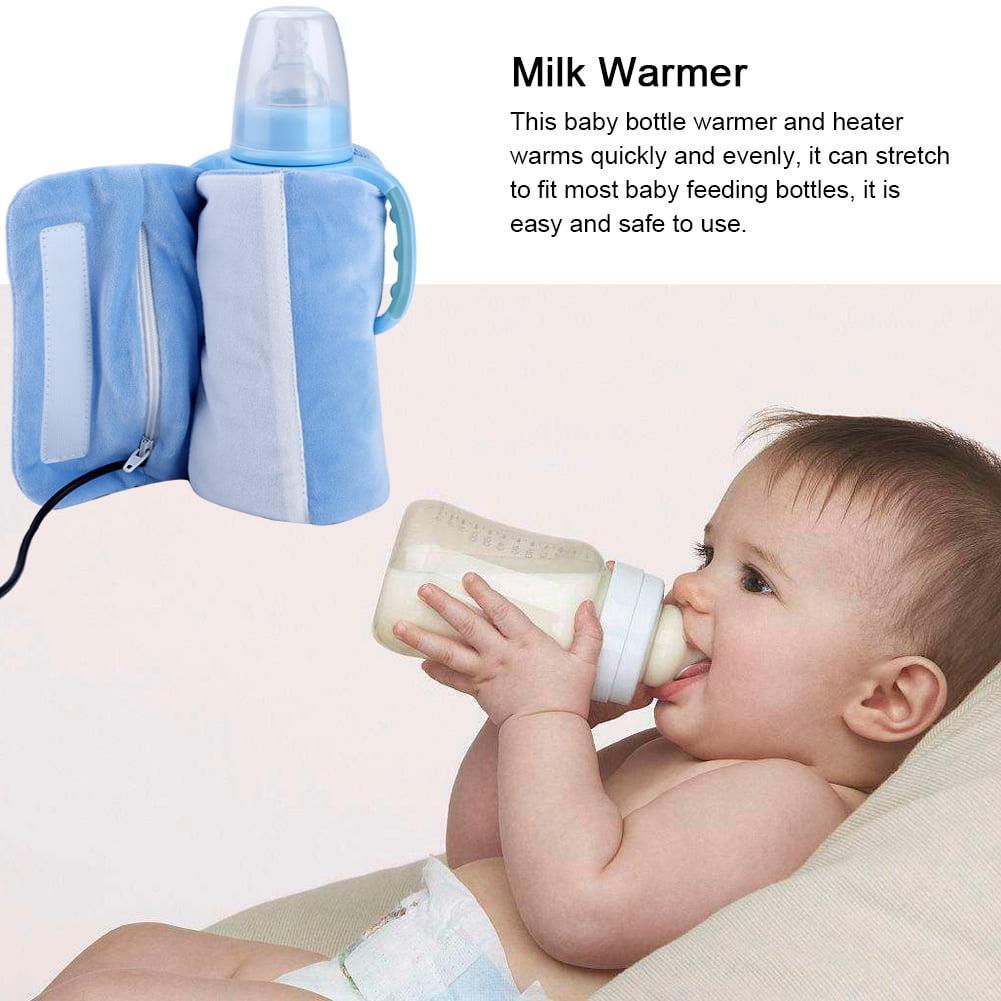 R/échauffeur de biberon Mug de voyage portable USB R/échauffeur de lait Chauffe-biberon Sac de rangement pour b/éb/é Couleur : Beige