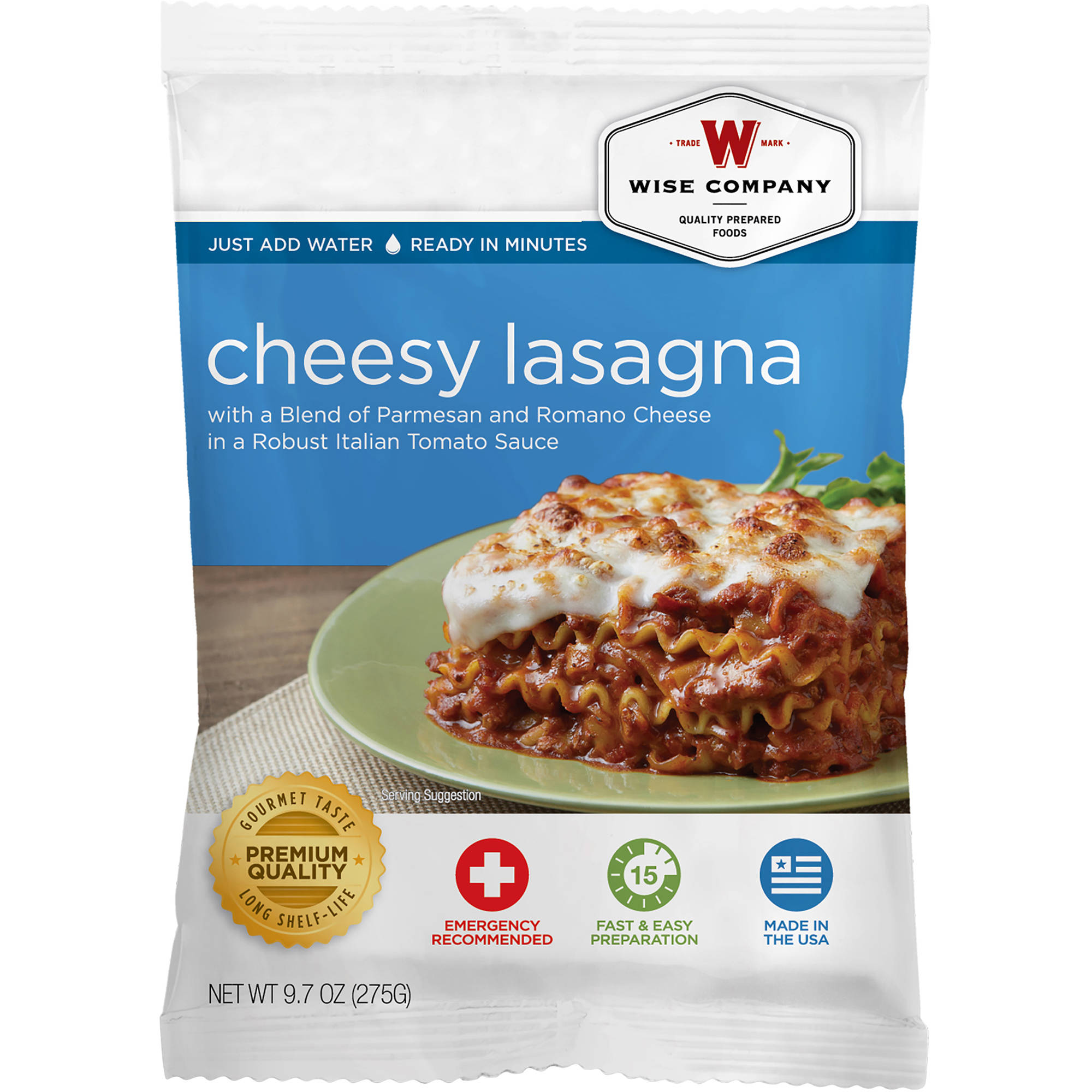 Wise Company Cheesy Lasagna, 9.7 oz