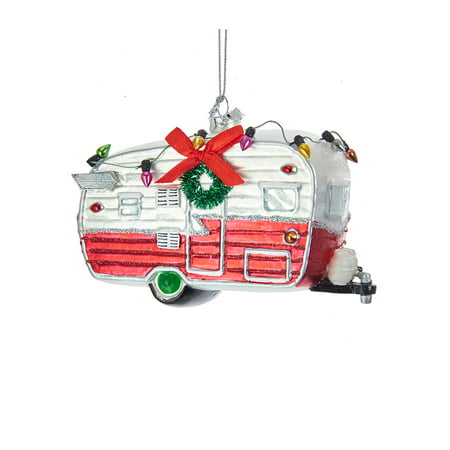 Glass Camping Car Christmas Ornament](Camping Ornaments)