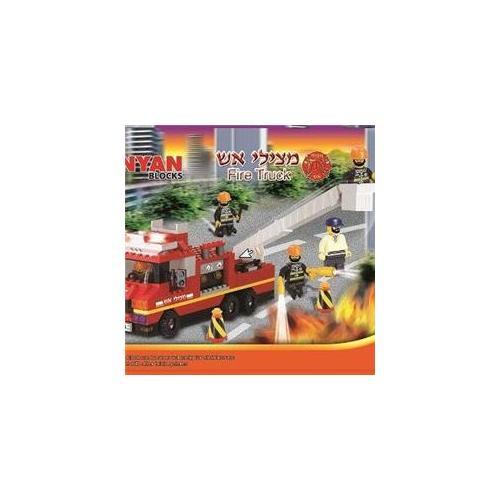 Binyan Blocks BBFT0240 Fire Truck, 240 Piece Set