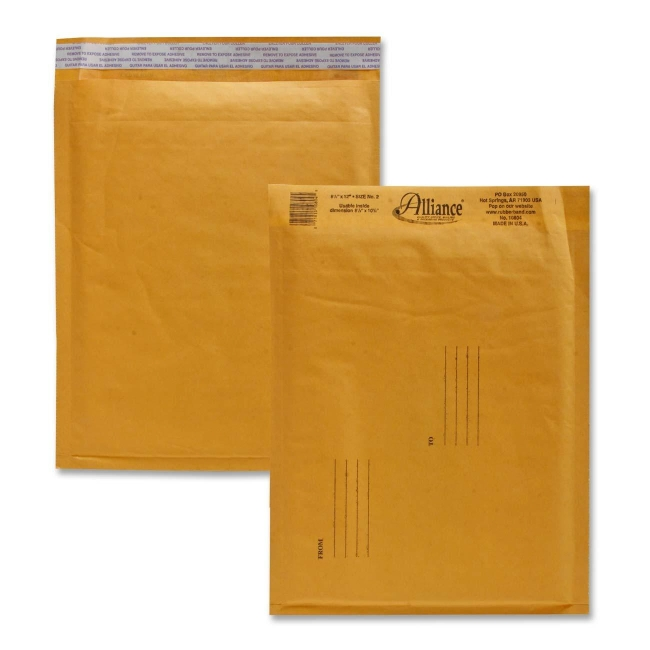 Alliance Rubber Kraft Bubble Mailer, Size #2, Pack of 25