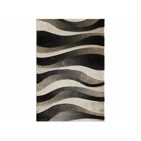 Central Oriental 5587.81.67 Apex Dows 100 Percent Heat Set Polypropylene Rug, Black - 7 ft. 10 in. x 9 ft. 10 (100% Heat Set)