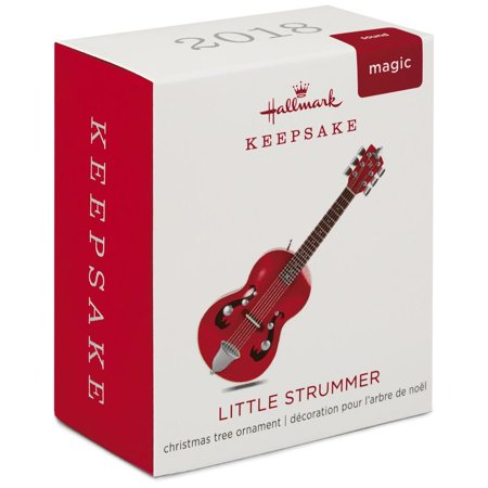 Hallmark Keepsake 2018 Mini Little Strummer Guitar Musical Ornament, 3.04