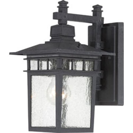 Textured Replacement (Replacement for 60/3493 COVE NECK 1 LIGHT 12 INCH OUTDOOR LANTERN WITH CLEAR SEED GLASS COLOR RETAIL PACKAGING TEXTURED BLACK replacement light bulb lamp )