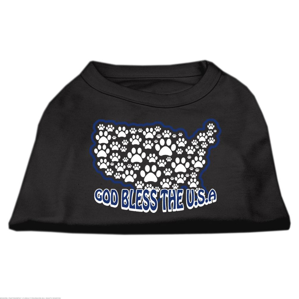 God Bless USA Screen Print Shirts Black M (12)