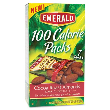 Emerald Dark Chocolate Cocoa Roast Almonds 100 Calorie Packs  7Ct
