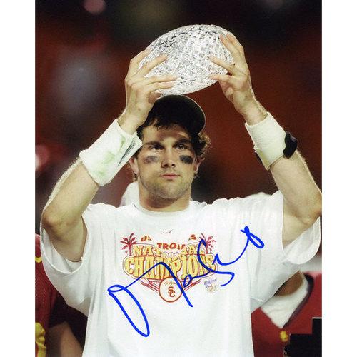 NCAA - Matt Leinart USC Trojans - Holding National Champion Trophy - Autographed 8x10 Autographed Photograph