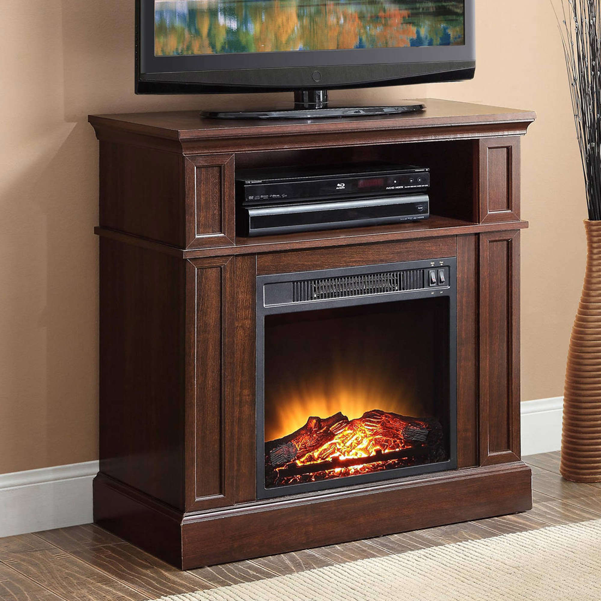 """Mainstays 31"""" Media Fireplace for TVs up to 42"""