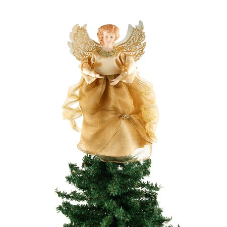 Angel Christmas Tree Topper Gold 9 Inch
