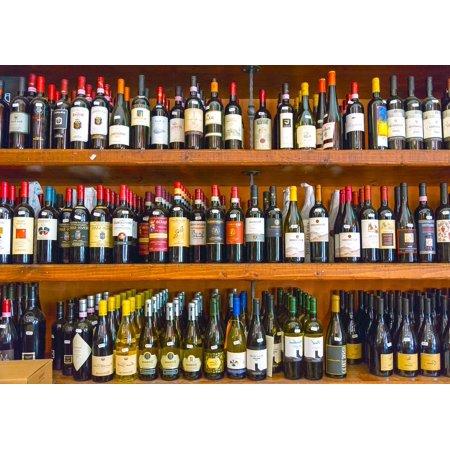 Canvas Print Wine Bottle Shelf Alcohol Wood Bottles Cellar Stretched 10 X 14