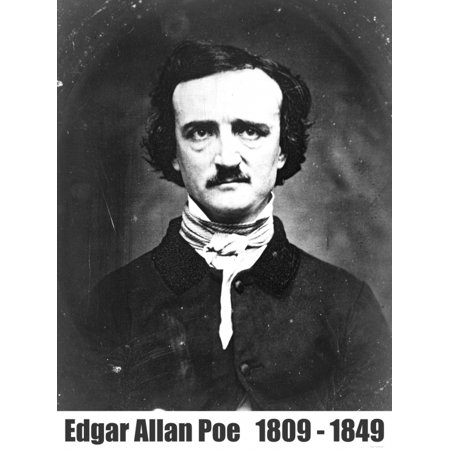Edgar Allan Poe Portrait Photograph Taken In 1848 Canvas Art -  (24 x 36)