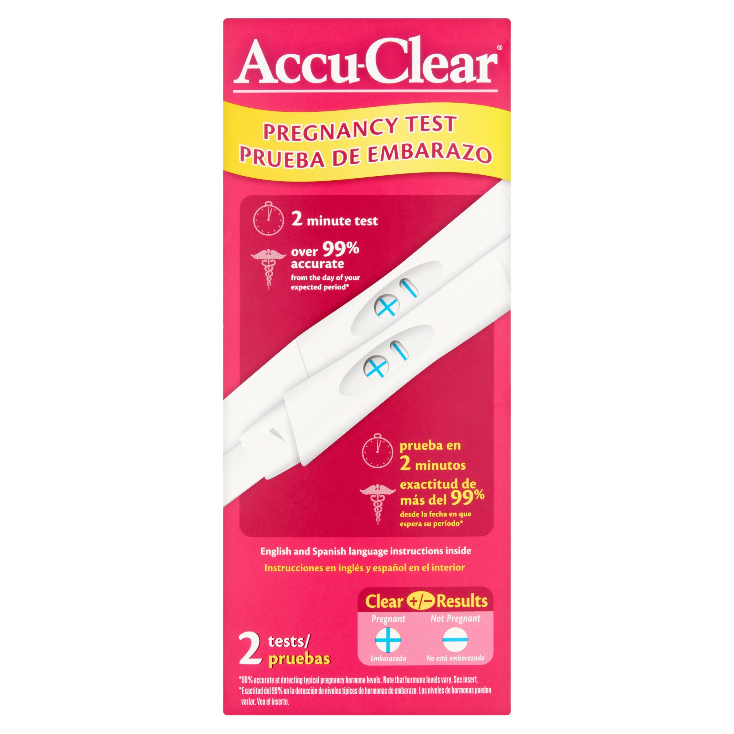 Image of Accu-Clear Pregnancy Test, 2 count