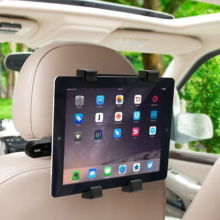 TSV Tablet Car Seat Headrest Mount, Car iPad Tablet Holder Universal Mount Holder for iPad, iPad Pro Mini, Samsung Galaxy, Fits all 7 to 11 inch Smartphones and