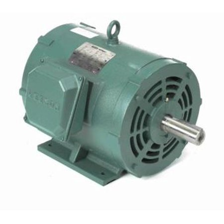 10 hp 1170 RPM 256T Frame 208-230/460V Open Drip Leeson Electric Motor # 170146