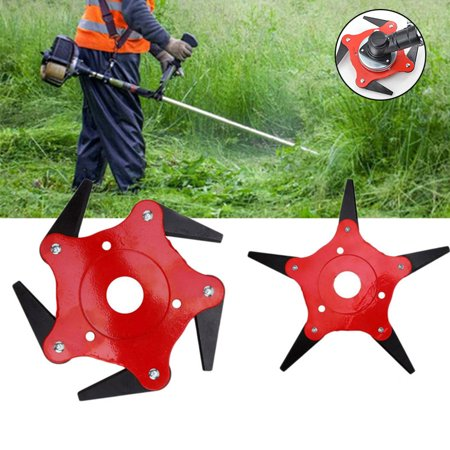 3/4/5 Steel Blades Razors Outdoor Trimmer Head  65Mn Lawn Mower Grass Weed Cutter Tool 3 (The Best String Trimmer)