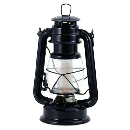 Northpoint LED Lantern, 12-LED 150-Lumen Lantern, Silent Night Indoor Outdoor Lantern, Home Decor Vintage Lantern, Battery Operated Hanging or Tabletop Hurricane Lantern (2-PACK) - Battery Operated Lantern