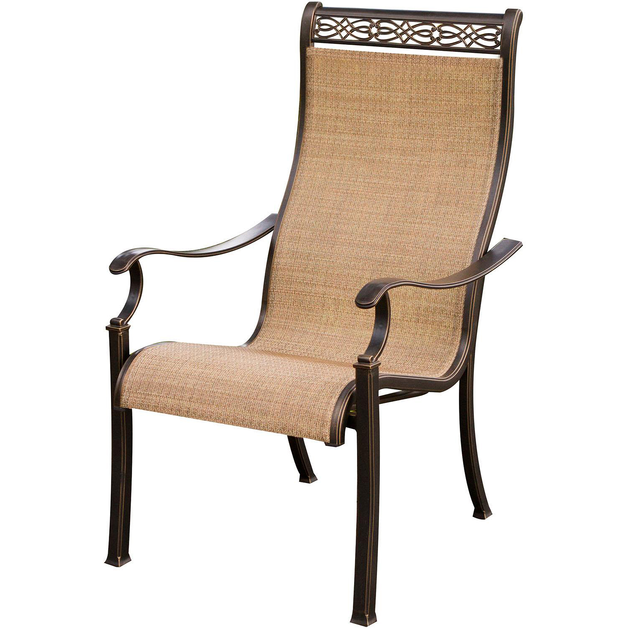 Attractive Hanover Monaco High Back Sling Outdoor Dining Chairs   Set Of 4    Walmart.com