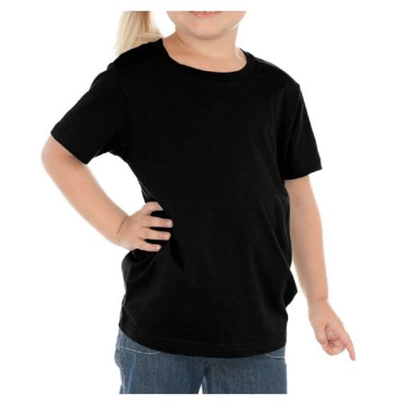 Kavio! Toddlers Crew Neck Short Sleeve Tee Jersey (Same TJC0440) Black (Cobalt Blue Flash)