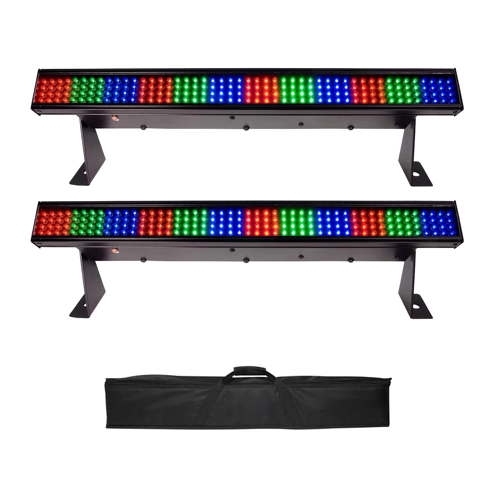 """Chauvet Colorstrip Mini 19"""" DMX LED Stage Wash Bar Light, 2 Pack + Carry Case"""