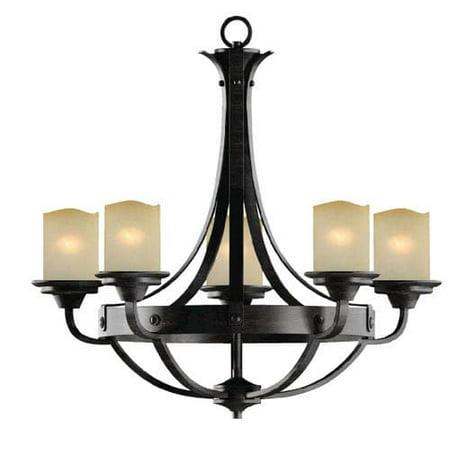 Patriot Lighting Elegant Home Oakland 5 Light Reclaimed Wood Chandelier