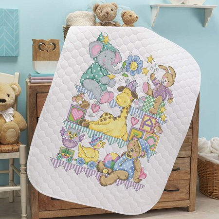 Herrschners® Pre-Quilted Playland Baby Quilt Kit Stamped