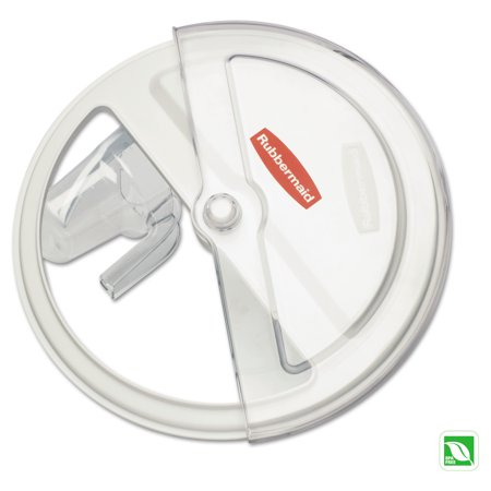 """Rubbermaid Commercial ProSave Sliding Lid, 20 3/4"""" x 5"""" x 20 3/4"""", White/Clear"""